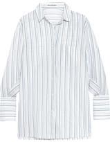 Acne Studios Bai Oversized Striped Cotton Shirt - White