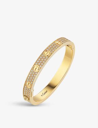 Cartier LOVE 18ct yellow-gold and 1.99ct brilliant-cut diamond bracelet