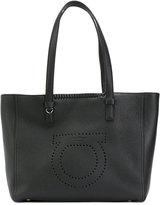 Salvatore Ferragamo embroidered tote bag - women - Leather - One Size