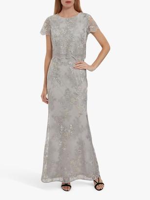 Gina Bacconi Drew Embroidered Maxi Dress