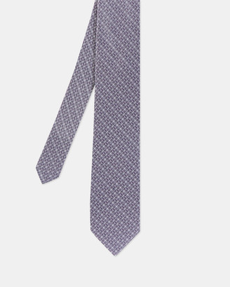 Ted Baker CABLE Geo print silk tie