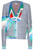 Thom Browne Single Cricket embellished tweed jacket