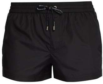 Dolce & Gabbana Logo Side Trim Technical Swim Shorts - Mens - Black