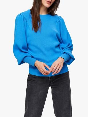 Selected Puff Sleeve Jumper, Campanula Blue