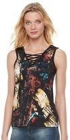 Rock & Republic Women's Abstract Flag Tank