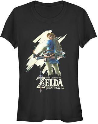 Fifth Sun Women's Tee Shirts BLACK - Legend of Zelda Black Breath of the Wild Art Tee - Women & Juniors