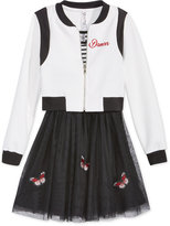 Beautees 2-Pc. Butterfly Bomber Jacket and Dress Set, Big Girls (7-16)