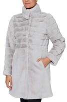 Thumbnail for your product : Jones New York Stand-Collar Faux-Fur Coat