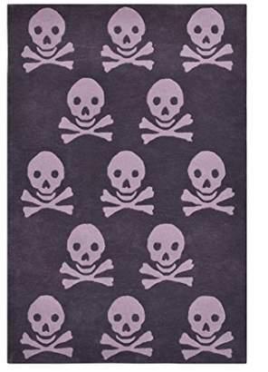 Lorena Canals Wool Rug Skulls Dark Grey (Light Grey)