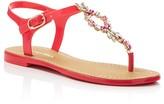 Ivanka Trump Adoren Embellished T-Strap Thong Sandals