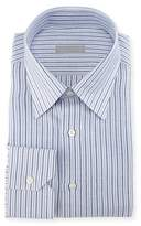 Stefano Ricci Thick-Stripe Cotton/Linen Dress Shirt