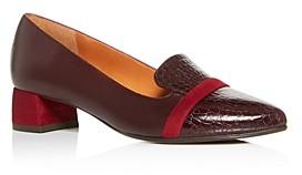 Chie Mihara Women's Roz Snake-Embossed Block-Heel Loafers