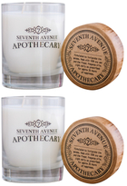 Cashmere & Frankincense Scented Artisan Soy Candle Set (11 OZ) (Set of 2)