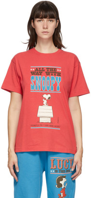 Marc Jacobs Red Peanuts Edition Snoopy T-Shirt