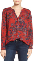 Lucky Brand Vintage Print Blouse