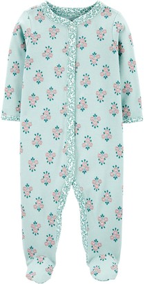 Carter's Baby Girl Floral Snap-Up Cotton Sleep & Play