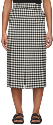 Ami Alexandre Mattiussi Black and White Check Straight Skirt