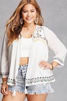 Forever 21 FOREVER 21+ Plus Size Embroidered Cardigan