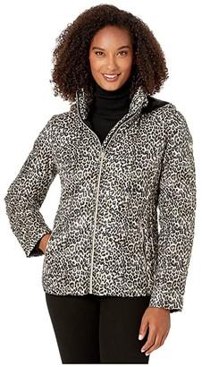 MICHAEL Michael Kors Zip Front Packable M824460TZ (Leopard) Women's Clothing