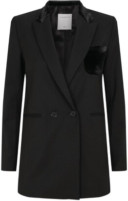 Sandro Paris Velvet Trim Jacket