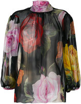 Dolce & Gabbana floral high-neck blouse - women - Silk - 42