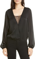 CAMI NYC The Katy Silk Surplice Blouse
