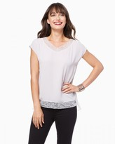 Charming charlie Crepe Lace Top