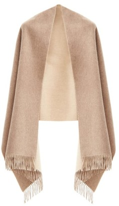 Johnstons of Elgin Reversible Fringed Cashmere-twill Stole - Beige