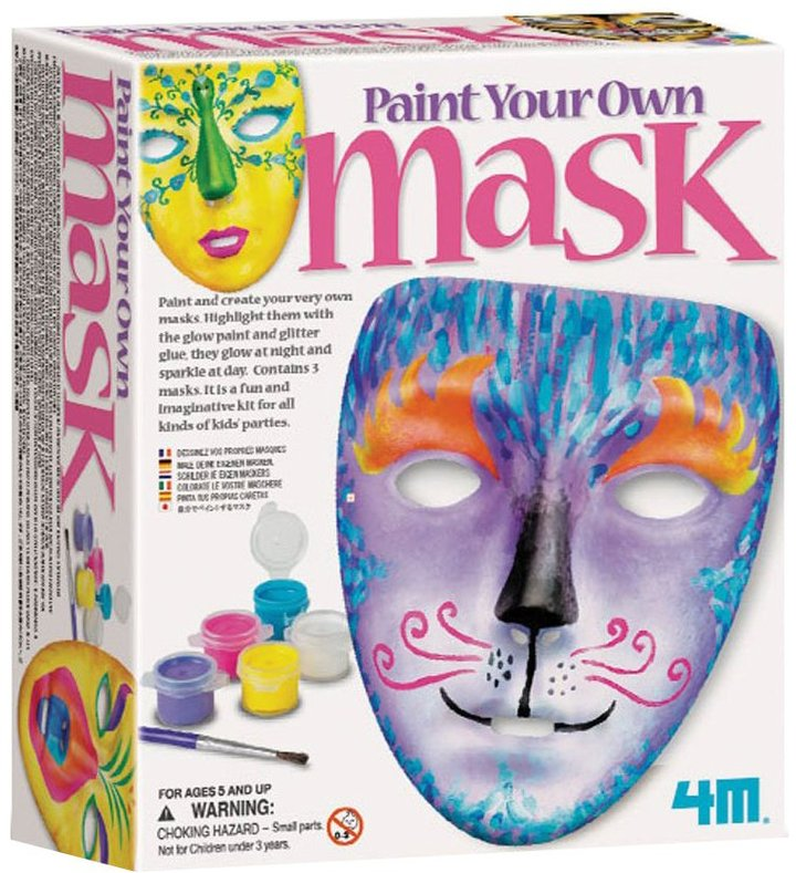 Toysmith 4M Paint Your Own Masks Kit