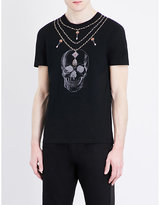 Alexander Mcqueen Chains And Skull-print Cotton-jersey T-shirt