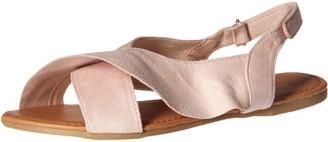 Qupid Women's X-Band Sandal Flat