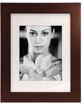 "Malden International Designs Manhattan Matted Frame - Walnut Wood - 11"" x 14"""