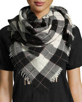 Isabel Marant Loria Plaid Wool-Silk Scarf