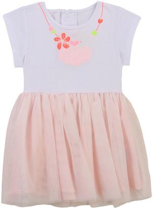 Billieblush Girl's Seashell Necklace Short-Sleeve Tulle Dress, Size 2-3