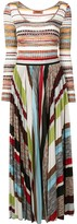 Missoni striped pleated maxi dress
