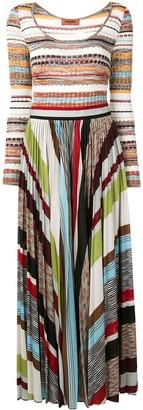 Missoni Striped Pleated Maxi Dress