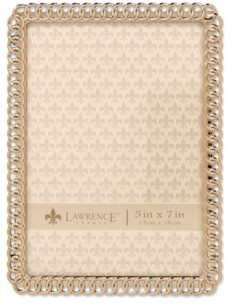 """Lawrence Frames Gold Metal Picture Frame - Eternity Rings - 5"""" x 7"""""""