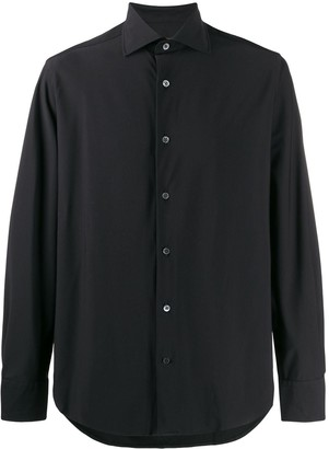 Corneliani Longsleeved Curved Hem Shirt