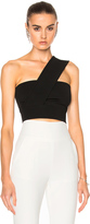 David Koma Asymmetrical Lace Insert Midi Skirt