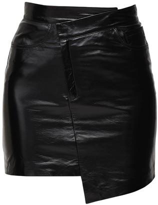 ZEYNEP ARCAY Asymmetric Patent Leather Mini Skirt