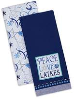 "DII Cotton Hanukkah Chanukah Holiday Dish Towels, 18x28"" Set of 2, Decorative Oversized Kitchen Towels, Perfect Home and Kitchen Gift-Peace Love Latkes"