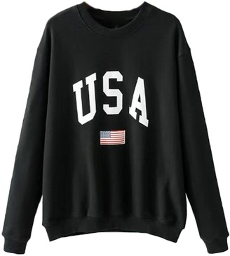Goodnight Macaroon 'Candy' USA Logo Sweatshirt (2 Colors)