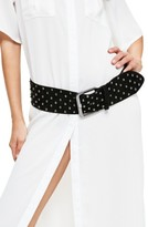 Missguided Women's Studded Faux Suede Belt
