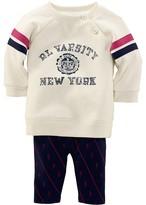 Ralph Lauren Infant Girls' Sweatshirt & Legging Set – Sizes 3-9 Months