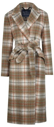 Jack Wills Blythe Long Checked Robe Coat
