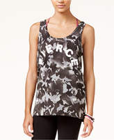 Material Girl Active Juniors' Ladder-Back Graphic Tank Top, Created for Macy's