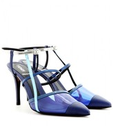 Fendi Transparent and leather pumps