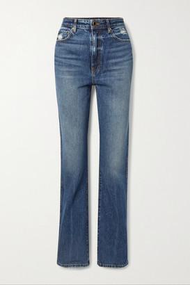 KHAITE Danielle High-rise Straight-leg Jeans - Blue