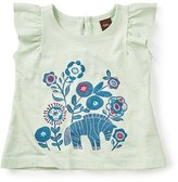 Tea Collection 'Zebra' Embroidered Graphic Tee (Baby Girls)