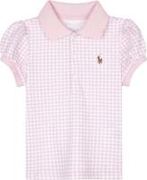Ralph Lauren Gingham cotton polo top 3-24 months